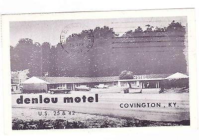 DENLOU MOTEL  COVINGTON KENTUCKY POSTCARD 1967