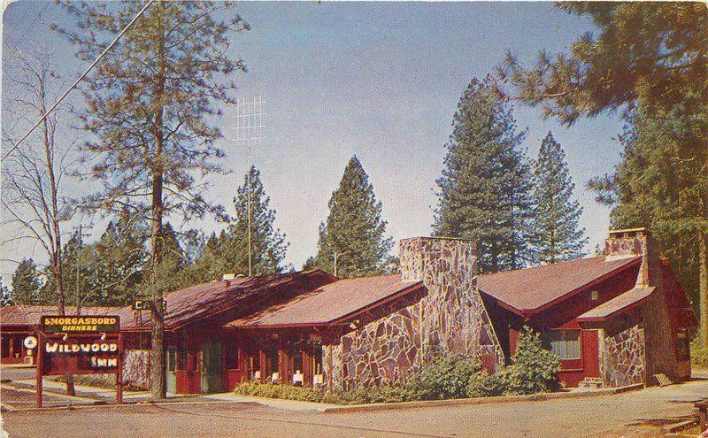 1950s Wildwood Inn roadside Paradise California Gillick postcard 12485