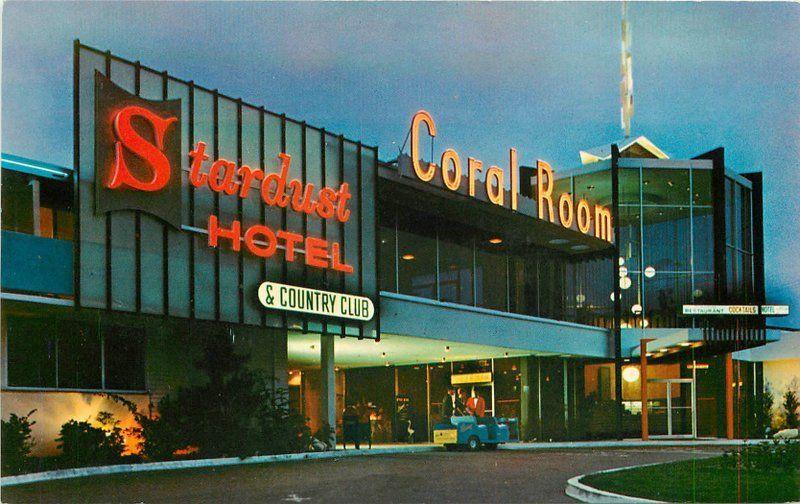 1950s San Diego California Stardust Hotel Night Neon roadside Western 12458