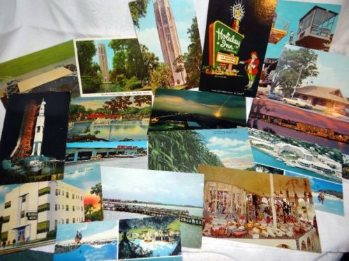 24 Vintage Florida and Bermuda Postcards Kennedy Restaurants Tourist Unused
