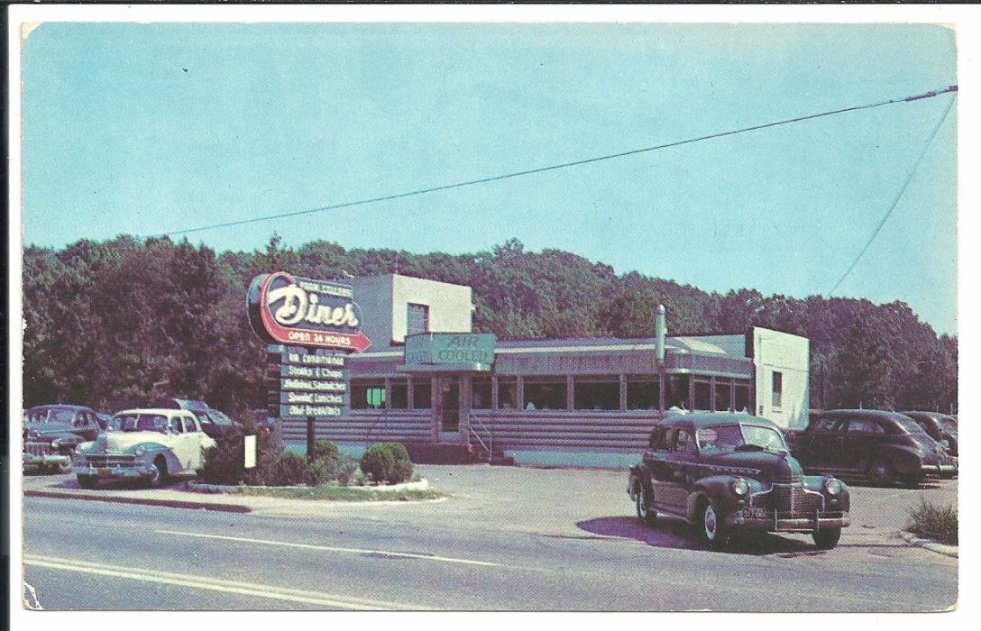 Park College Diner College Park MD Vintage Original Postcard