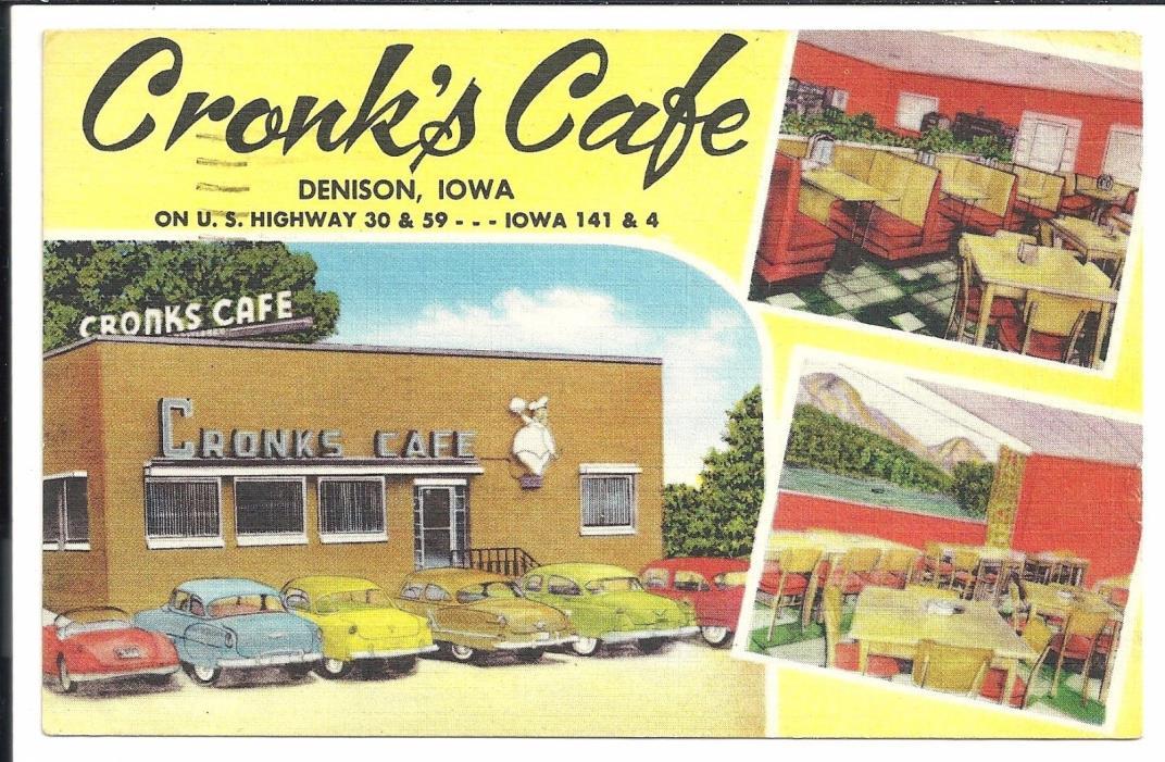 Cronk's Cage Denison Iowa Vintage Original Postcard