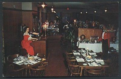 Weldon NORTH CAROLINA Mackenzie's Colonial Manor Restaurant Interior Postcard