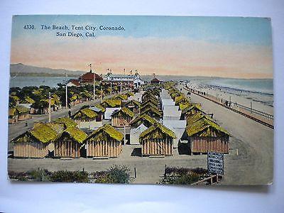 Postcard Coronado Beach Tent City San Diego Unused