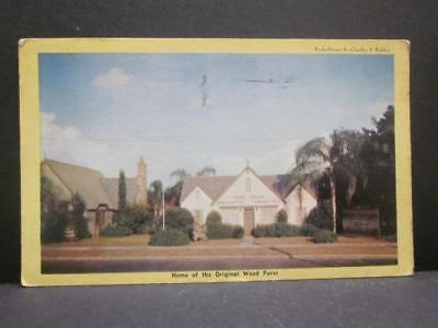 Earl Gresh Wood Parade St Petersburg FL, Home of Orig Wood Purse, 1940s Postcard