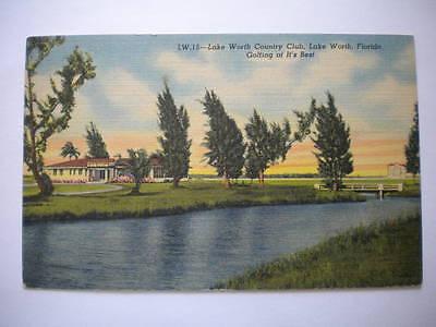 Postcard Lake Worth Country Club Lake Worth Florida Unused
