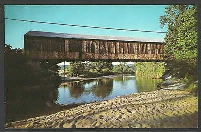 Covered Bridge The Smith Bridge Plymouth New Hampshire Chrome Postcard 1036 ac