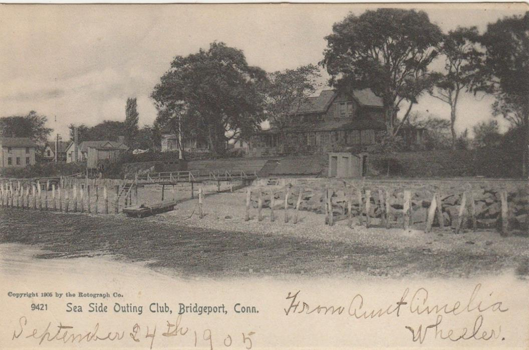 Bridgeport CT -- Sea Side Outing Club -- 1905 -- Rotograph Co. Postcard