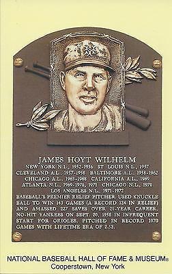 HOYT WILHELM -Baseball Hall of Fame- INDUCTION Plaque Postcard- WHITE SOX/GIANTS