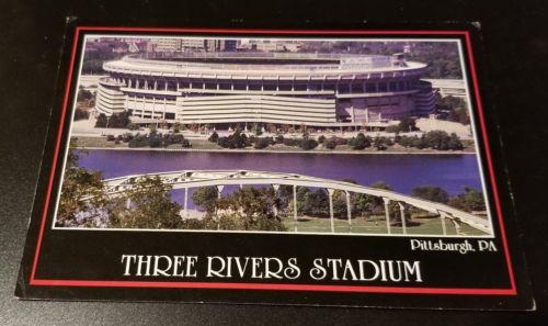 Vtg 1980's THREE RIVERS STADIUM Pittsburgh PA PHOTO CARD-Lot Steelers Pirates