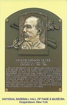 FRANK SELEE -Baseball Hall of Fame- INDUCTION Plaque Postcard- BOSTON BEANEATERS