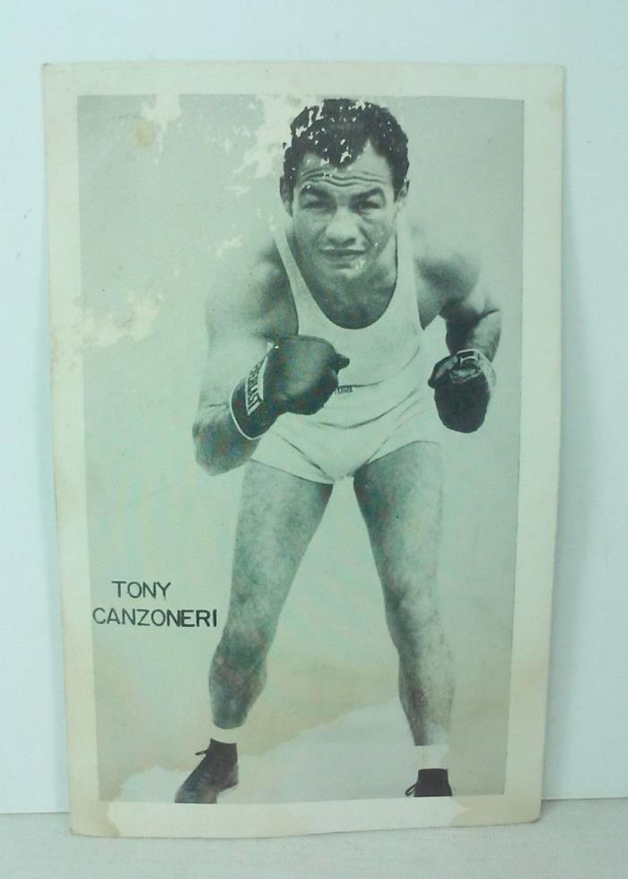VINTAGE BOXER TONY CANZONERI PADDOCK  BAR & GRILL POSTCARD