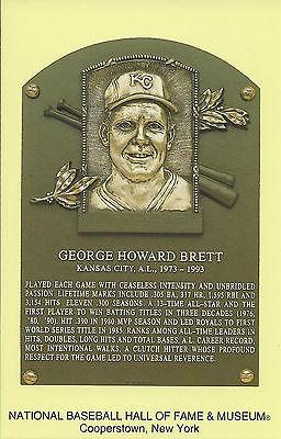 GEORGE BRETT -Baseball Hall of Fame- INDUCTION Plaque Postcard- ROYALS