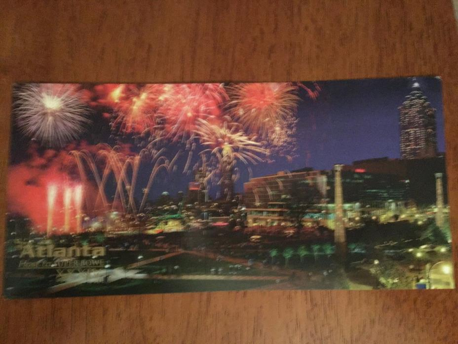 POSTCARD FROM 2000 SUPER BOWL IN ATLANTA