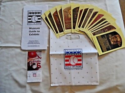 New York Yankees Hall Of Fame HOF Postcard Collection W/ Ticket, Brochure, & Bag