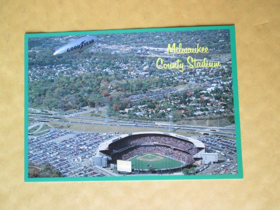 MILWAUKEE COUNTY STADIUM    HOME OF THE  MILWAUKEE BREWERS