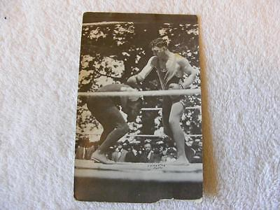 Vtg Jack Dempsey Real Photo Postcard