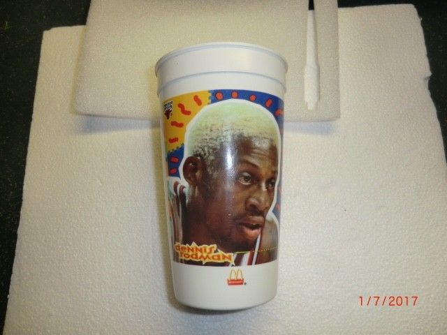 DENNIS RODMAN  1996 McDonald's Collectors CUP Chicago Bulls  #91 Worm