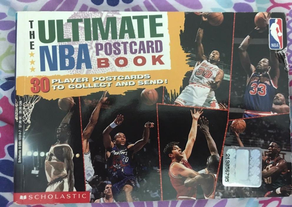 The Ultimate NBA Postcard Book 30 with 30 player photos 1997