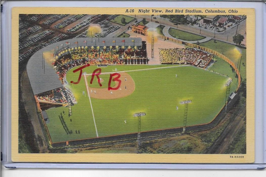 NIGHT VIEW,RED BIRD STADIUM~COLUMBUS,OH 1937