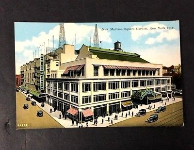 1925 Madison Square Gardens Postcard From Opening Season New York City