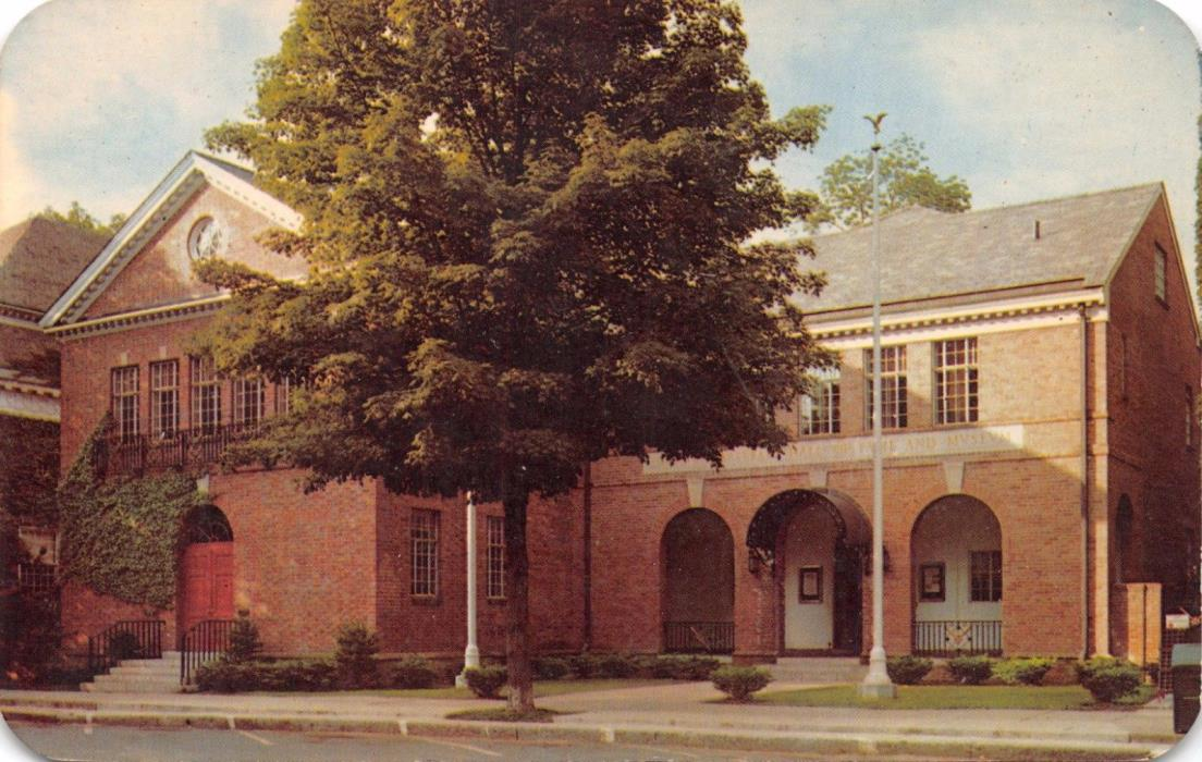 COOPERSTOWN NY~NATIONAL BASEBALL HALL OF FAME & MUSEUM~SPORTS POSTCARD 1960s