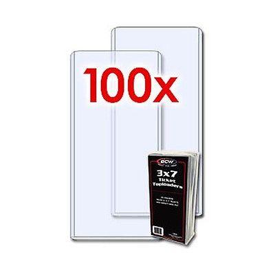 100 BCW RIGID TOPLOADERS 3