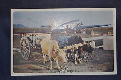 Postcard Mexico, American Airlines Route of Flagships Advertising Ivan Dmitri