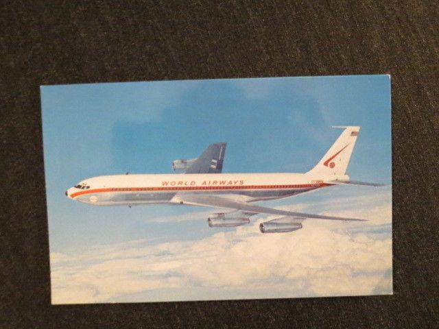 VTG World Airways' Boeing Intercontinental 707 320c Jetliner Postcard