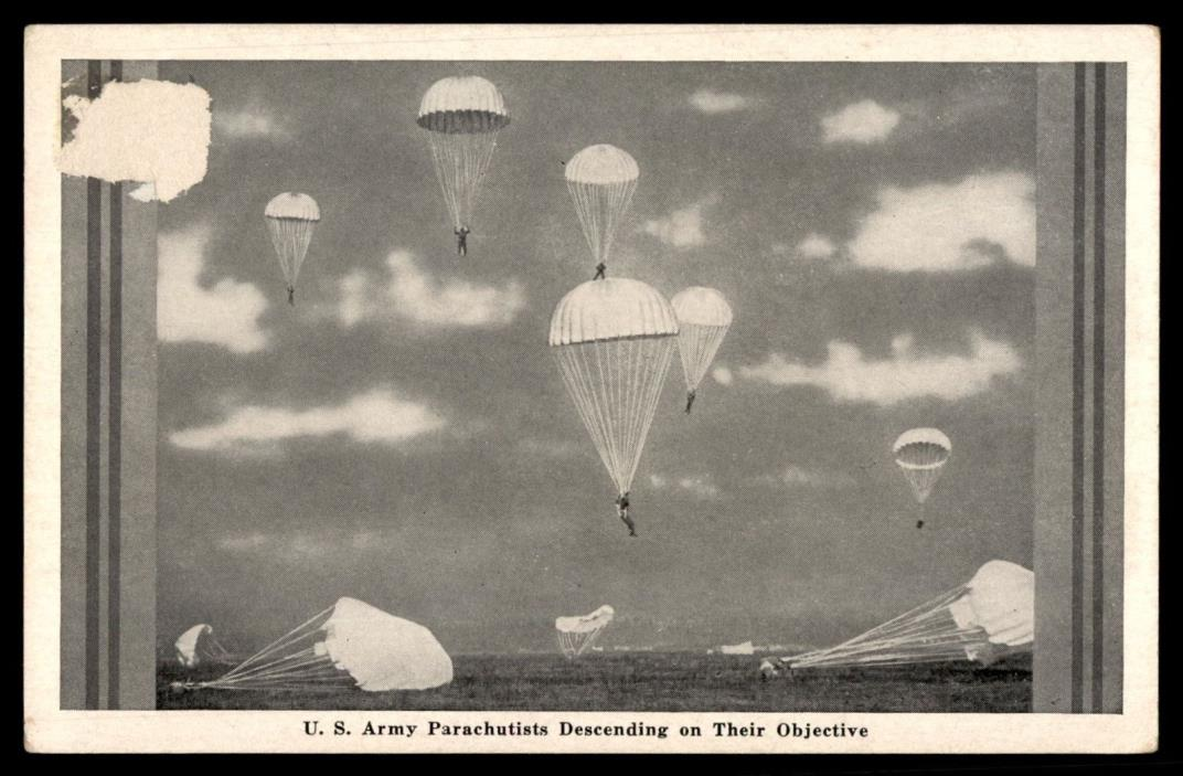 US Army Parachutists Descending International News Photo Picture Postcard