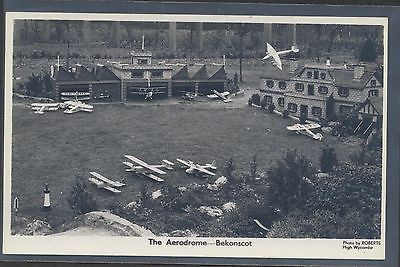 Bekonscot Miniature Town Aerodrome unused real photo picture postcard