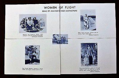 Women in Flight First Instructors, INSTALLMENT SET 4 POSTCARDS by Roy C. Votaw