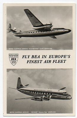 Airplane Aviation - British European Airways Viscount Discovery / Elizabethan