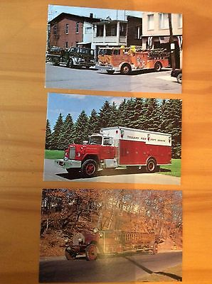 3 Postcards -  Fire Trucks