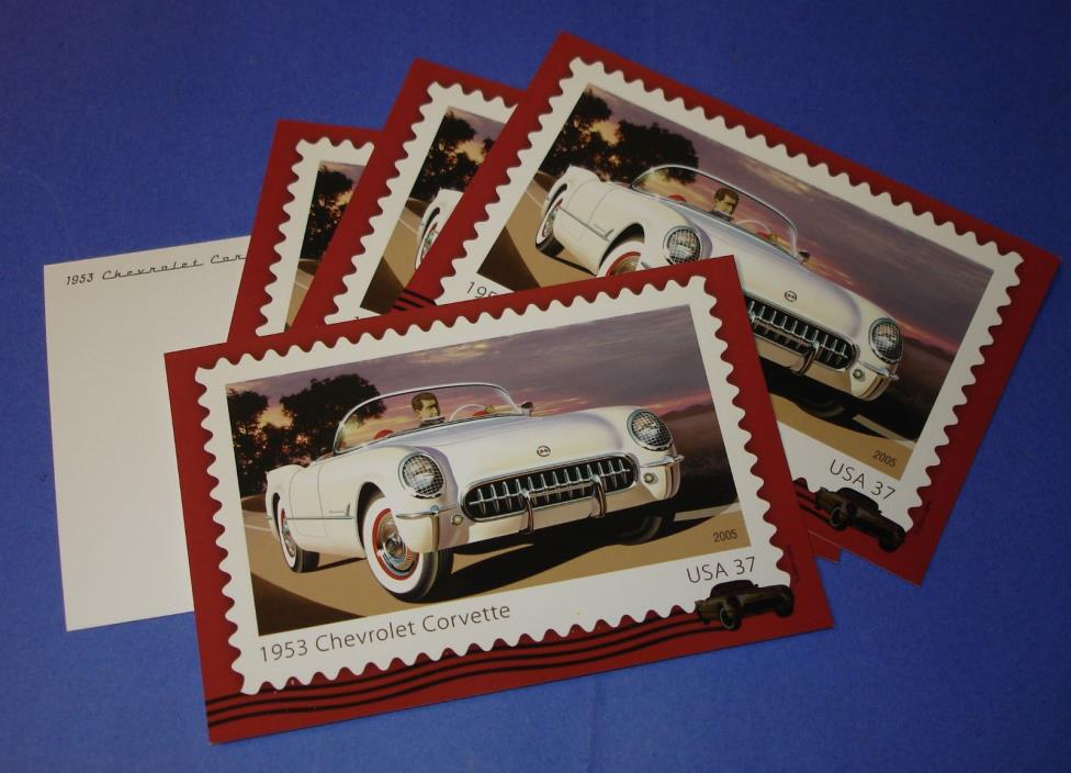 1953 Chevrolet Corvette Postcard lot (5)