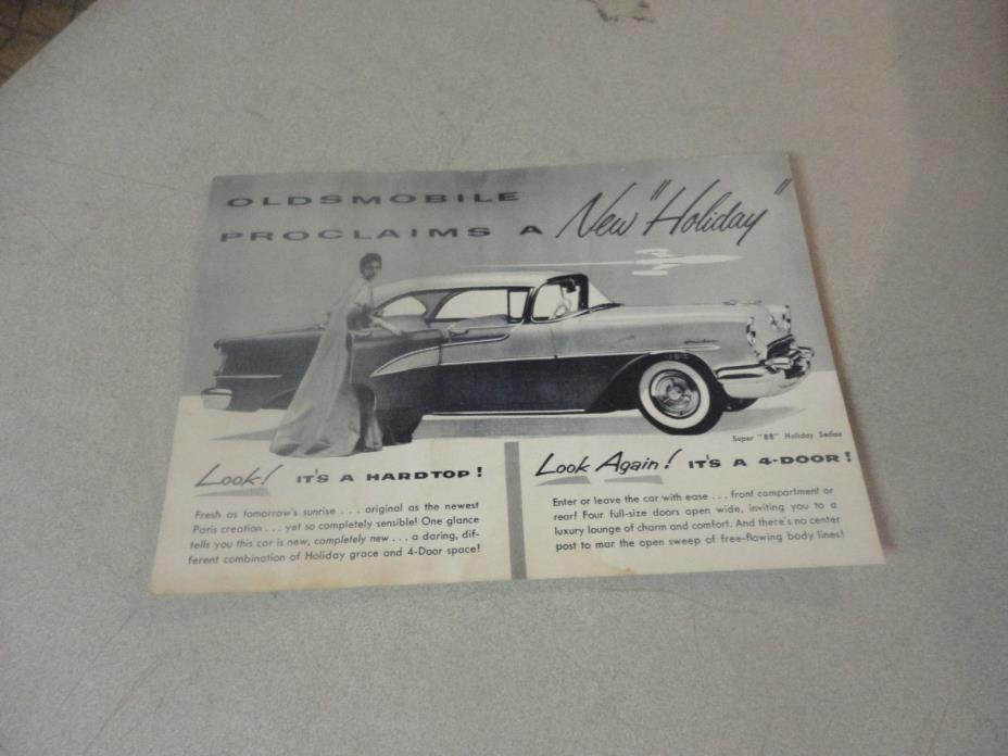 Vintage Oldsmobile Automobile Proclaims a New Holiday Postcard