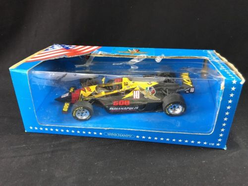 Vintage Minichamps Indianapolis Motor Speedway 500 Car Black & Yellow 1:18 Scale