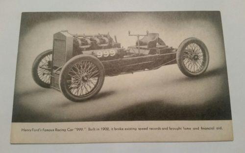 Henry Ford Race Racing Car 9991934 Postcard  L@@K!
