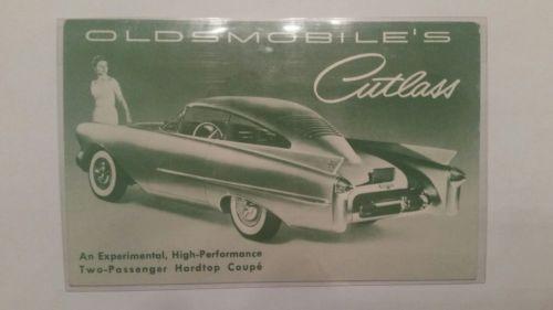 Vintage Oldsmobile Car Cutless Hardtop Postcard  L@@K!