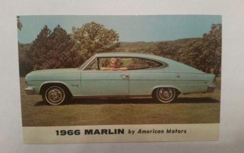 Vintage 1966 Marlin American Motors Postcard  L@@K!