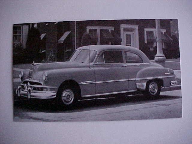 1951 Pontiac Chieftain Deluxe 2-dr sedan  post card