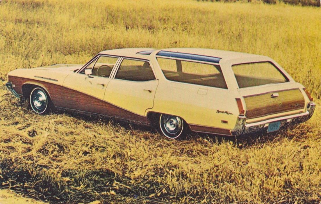 Postcard 1968 Buick Sportwagon Dealer Postcard Swanberg & Scheefe Minneapolis