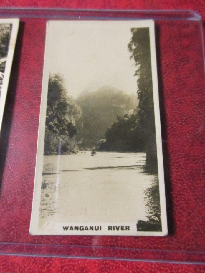 1928 Virginia Cigarettes Card #15 - New Zealand - Wanganui River