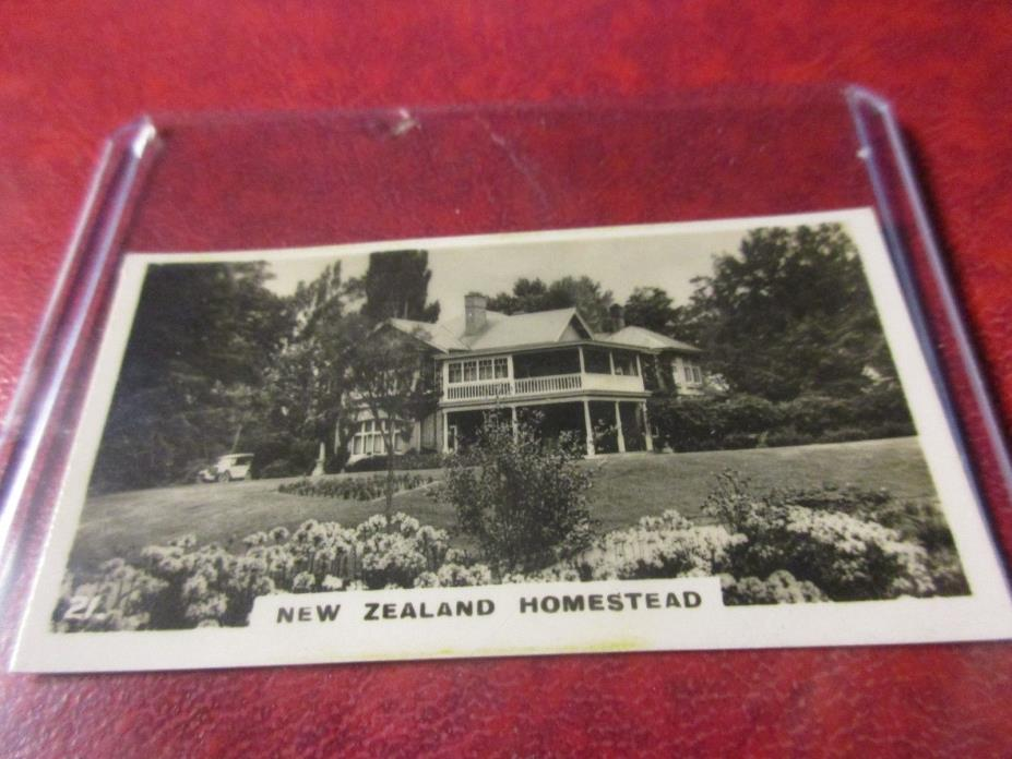 1928 Virginia Cigarettes Card #21 - New Zealand - New Zealand Homestead