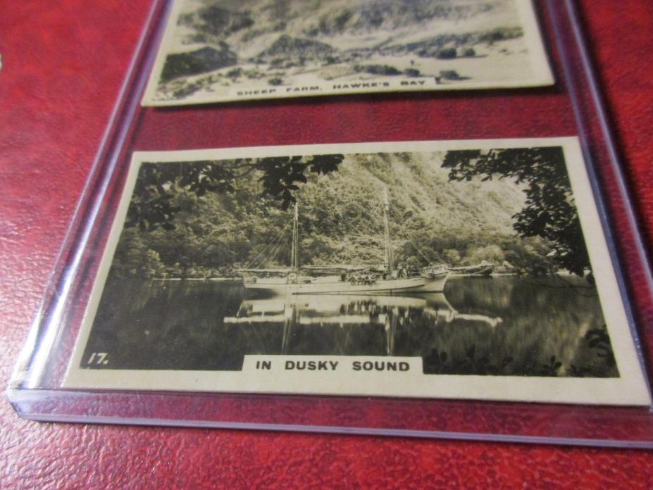 1928 Virginia Cigarettes Card #17 - New Zealand - In Dusky Sound