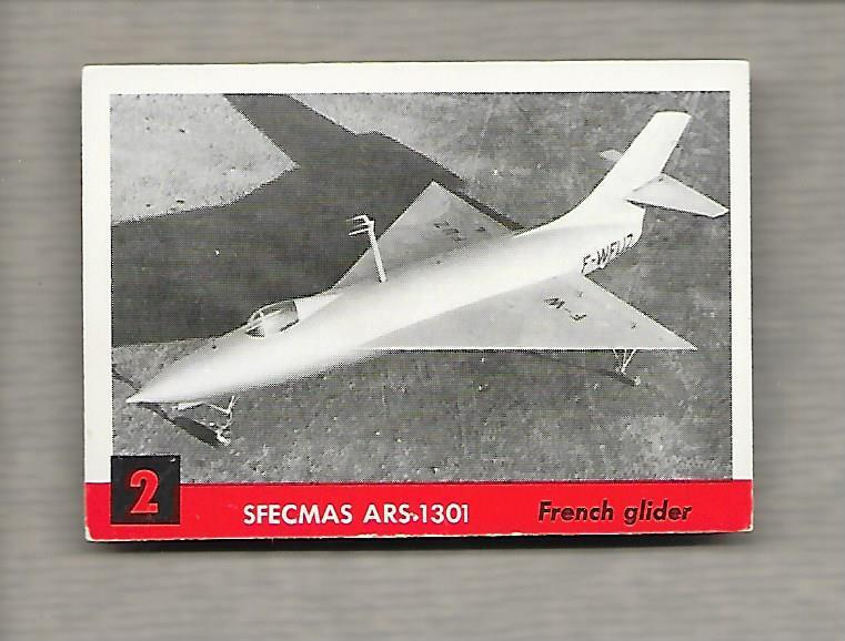 Topps Jets #2 Gum Card Sfecmas ARS 1301 1956 French Glider g1184