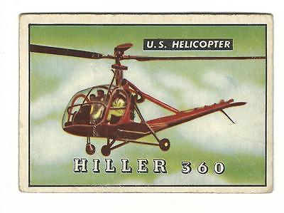 1952 Topps WINGS Hiller 360 U.S. Helicopter Aviation Friend Or Foe #160