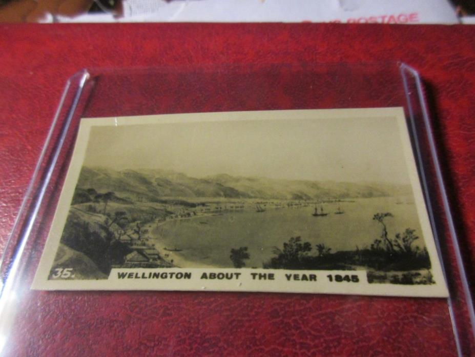 1928 Virginia Cigarettes Card #35 - New Zealand - Wellington in 1845