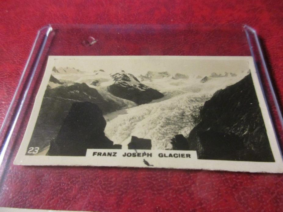1928 Virginia Cigarettes Card #23 - New Zealand - Franz Joseph Glacier