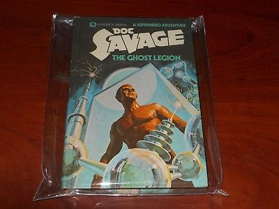 Doc Savage The Ghost Legion Golden Press Hard Cover HC 1975 Stored in Mylar 3